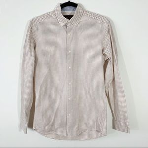 Ben Sherman . Check Button Front L/S Shirt . S